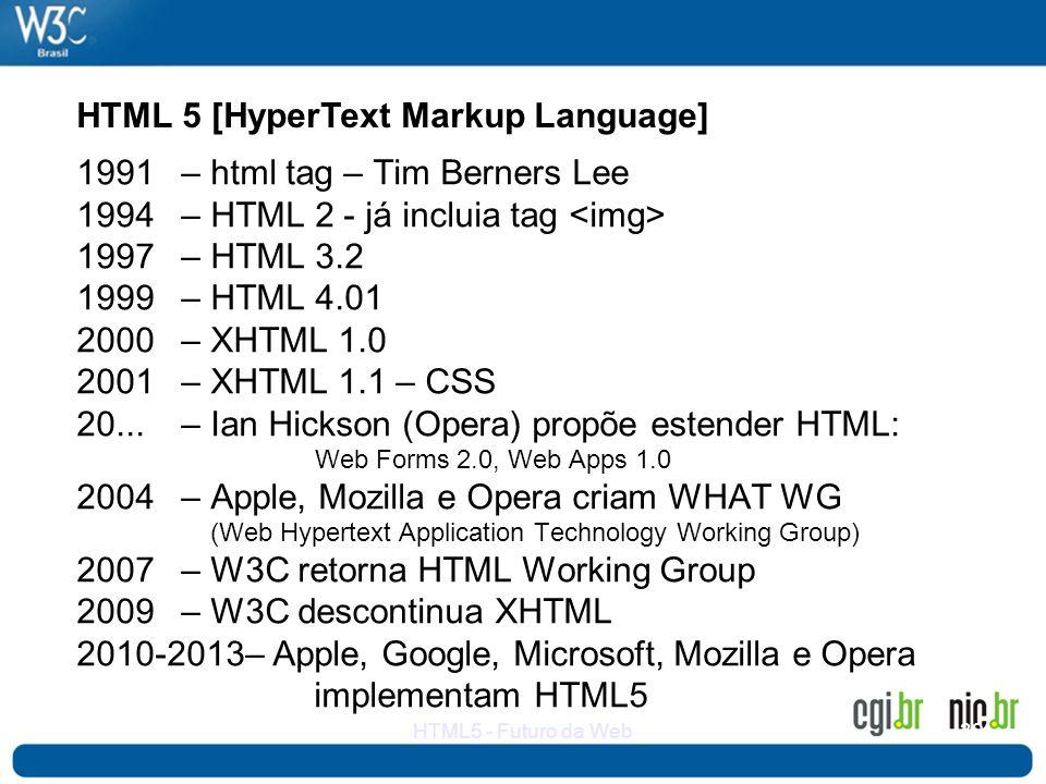 HTML 5 [HyperText Markup Language]